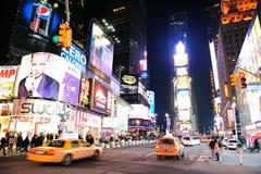 城市曼哈顿新的晚上正方形时间约克 库存照片