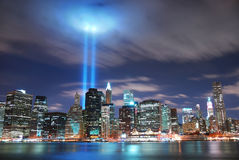 城市曼哈顿新的晚上约克 免版税库存图片