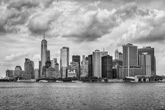 城市曼哈顿新的美国视图约克 库存照片