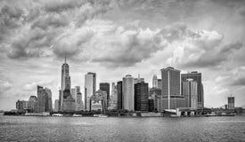 城市曼哈顿新的美国视图约克 库存图片