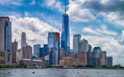 城市曼哈顿新的美国视图约克 免版税图库摄影