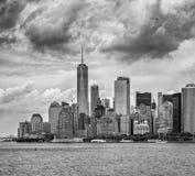 城市曼哈顿新的美国视图约克 免版税库存图片