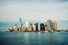 城市曼哈顿纽约 库存照片