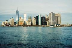 城市曼哈顿纽约 免版税图库摄影