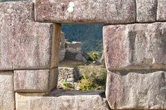 城市有历史的失去的machu秘鲁picchu 免版税库存照片