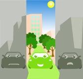 城市期望绿色 免版税库存图片