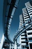 城市未来派单轨 免版税库存图片