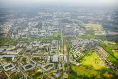 城市柏林鸟瞰图  免版税库存图片