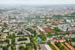 城市柏林鸟瞰图  库存照片