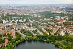 城市柏林鸟瞰图  免版税库存照片