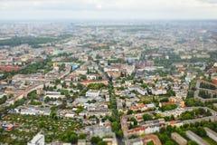 城市柏林鸟瞰图  免版税图库摄影