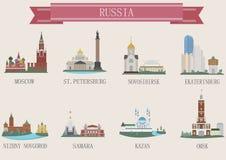 城市标志。俄罗斯 库存图片
