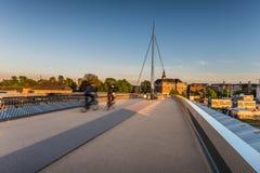 城市桥梁在欧登塞,丹麦 免版税库存图片
