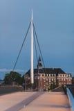 城市桥梁在欧登塞,丹麦 免版税图库摄影