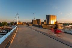 城市桥梁在欧登塞,丹麦 图库摄影