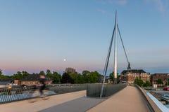 城市桥梁在欧登塞,丹麦 库存图片