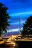 城市桥梁在欧登塞,丹麦 库存照片