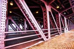 城市桥梁在芝加哥 免版税库存图片