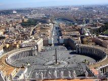 城市梵蒂冈视图 免版税库存照片
