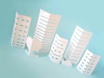 城市概念做纸张 免版税库存照片