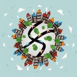 城市模式冬天世界 免版税库存照片