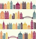 城市模式 免版税图库摄影