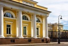 城市横向博物馆彼得斯堡俄国俄语 Mikhailovsky宫殿 彼得斯堡圣徒 库存图片