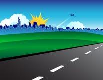 城市横向路 库存例证