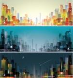 城市横向 库存照片