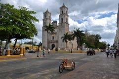 城市殖民地梅里达墨西哥 免版税库存照片