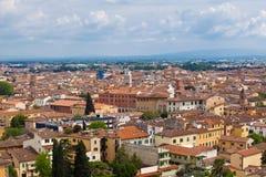 城市比萨piza视图 图库摄影