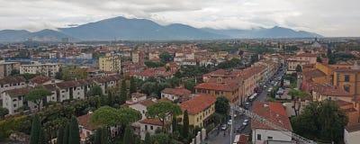 城市比萨piza视图 免版税库存照片