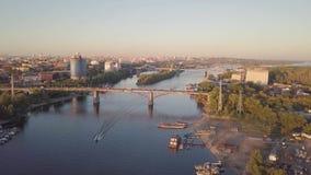 城市河桥梁 影视素材
