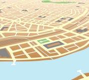 城市河沿 免版税图库摄影