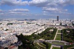 城市法国全景巴黎视图 图库摄影