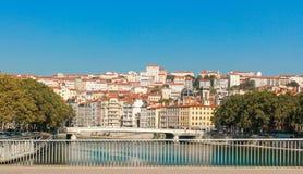 城市法国利昂 免版税图库摄影