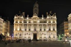 城市法国大厅利昂 库存图片