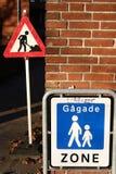 城市法语符号 库存照片
