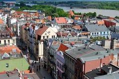 城市波兰托伦视图 库存照片