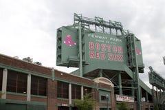 城市波士顿大量的芬威球场 图库摄影