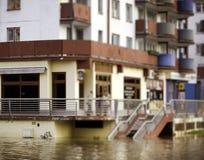 城市洪水 库存照片