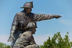 城市消防队员堪萨斯纪念品雕象 库存图片