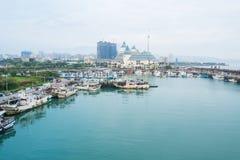 城市港口和海洋 库存图片