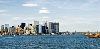 城市港口纽约 免版税库存图片