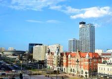 城市游览在卡托维兹 免版税库存图片