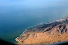 城市湖俯视的盐 库存图片