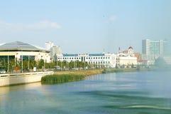 城市湖卡班在喀山 免版税库存照片