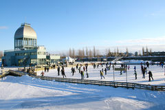 城市滑冰 库存照片