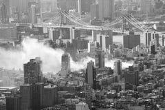 城市火纽约 免版税图库摄影