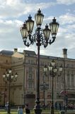 城市灯笼莫斯科老葡萄酒 图库摄影